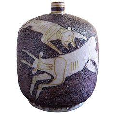 Guido Gambone vase, early 1950s.