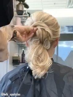 -Beautiful wedding updo Hair video See it Best Wedding Hairstyles, Fancy Hairstyles, Braided Hairstyles, Hairstyles Videos, Beautiful Hairstyles, Hair Upstyles, Hair Specialist, Wedding Updo, Hair Videos