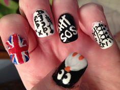 Nail Designs 2018 - my nail art:) Nail Designs Spring, Nail Art Designs, Spring Nails, Summer Nails, Band Nails, 5sos Nails, Hand Thrown Pottery, Cool Nail Art, Nail Trends