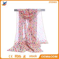 Check out this product on Alibaba.com App:wholesale stock Colorful Polka Dot Printed fashion cheap chiffon scarf https://m.alibaba.com/aUJVbu