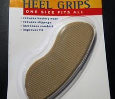 If your heels are too big or loose-fitting -- try inserting heel grips!  I got mine at CVS -- I think they`re around $3.80.  Make sure you dont buy HEEL LINERS