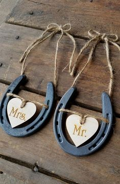 Wedding Chair Signs Horseshoe Wedding Decor Mr and Mrs Signs Horseshoe Wedding Decor Rustic Wedding Barn Wedding is part of Wedding decor Chairs - DownInTheBoondocks ref hdrpolicies Please contact us with any questions you may have before ordering Horseshoe Crafts, Lucky Horseshoe, Horseshoe Wedding, Horseshoe Ideas, Horseshoe Table Numbers, Horseshoe Decorations, Wedding Chair Signs, Rustic Wedding Decorations, Country Weddings