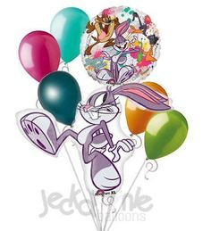 7pc Bugs Bunny Daffy Duck Balloon Bouquet Party Decoration Birthday Looney Tunes