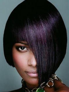 black hair more hair ideas purple hair hair colors hairstyles hair ...