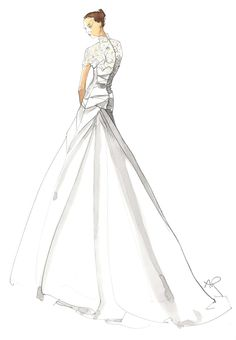 Bridal wedding sketch 2 Angie Rehe