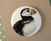 Large Puffin Button