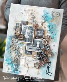 Canvas love the partial frames Collage Art Mixed Media, Mixed Media Canvas, Mixed Media Scrapbooking, Scrapbooking Layouts, Altered Canvas, Altered Art, Mix Media, Paper Art, Paper Crafts