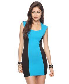 Colorblocked Panel Dress