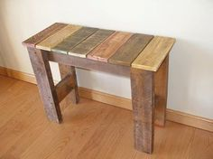Reclaimed Pallet Wood Bench...Rustic...Primitive....Handcrafted....Oil Stain Finish....Green Gift Idea on Etsy, $85.00