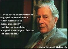The selfishness of modern conservatives.
