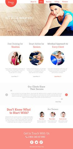 Template 47546 - Fitness Club  Responsive Website Template