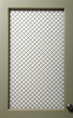Decorative Metal Mesh For Cabinets Flat Wire Mesh In