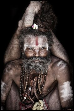Mario Gerth travelled across India and Nepal to photograph Sadhus, the Hindu holy men who live their lives away from everyday society, shunning home comforts for a life spent inside caves, forests and temples We Are The World, People Around The World, Photo Portrait, Portrait Photography, Holi, Henna, Portraits, World Cultures, Face Art