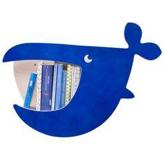 Kinder-Wandregal Moby zookids - Wal blau | JulicaDesign