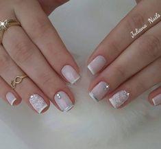 Short nails nail ideas for kids inspirational 45 fotos de unhas Pink Nails, Gel Nails, Acrylic Nails, Nail Polish, Bride Nails, Wedding Nails, Juliana Nails, French Nails, Pretty Nail Art