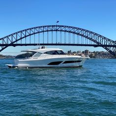 The ultimate Sydney Harbour and east coast boat. Riviera 505 SUV Available for viewing on our wharf. Call 02 9327 0000 for details Motor Yachts, Sydney Harbour Bridge, Boating, East Coast, Luxury Lifestyle, Ships, Sailing, Rowing
