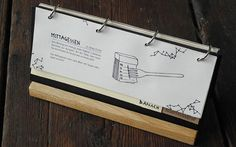 Cartas de Menú para Restaurantes. Die Scherbe Restaurant and Bar