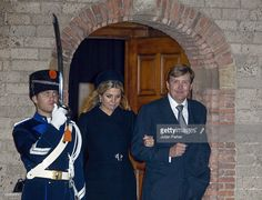 King Willem of the Netherlands and Queen Maxima of the Netherlands leave a memorial service for Prince Friso of The Netherlands, who passed away in August 12 following a skiing accident in February 2012, at the old Church in Delft on November 2, 2013 in Delft, Netherlands.