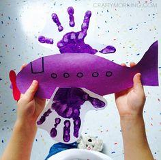 Footprint/Handprint Transportation Crafts for Kids - Crafty Morning