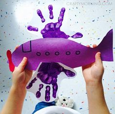 handprint airplane craft                                                       …