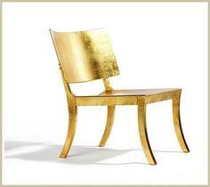 Gold leaf chair by Fredrik Mattson