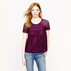 Eyelet top #jcrew definitely would not look good on me, but LOVE