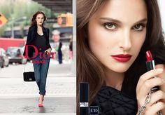 Natalie Portman, the new Rouge Dior attitude.
