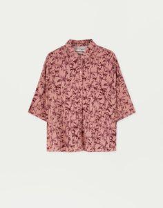 Jessica Simpson Mujeres Rosa Blanca Arrugada Camisa Casual