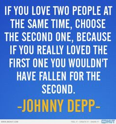 Johnny Depp is wise.