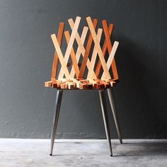 The 'Nest chair' by Thai designerRush Pleansukconsists of a weaving pattern of golden teak and ash wood. The result is a kind of loose, lattice effect which is supported by steel mesh legs and brace. The chair is a study in joinery and interlocking parts, and is being produced by Thai furniture manufacturerPLATO.