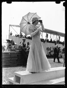 """""""Elegantly dressed spectator at Henley Royal Regatta, taken in July 1933 by Edward G Malindine for the Daily Herald. The Regatta was first h..."""