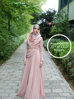 SPOTTED : INAYAH customer looking stunning in our Blush Evening Gown www.inayahcollection.com #inayah#modestfashion#occasionalwear