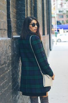 plaid coat - easy look for winter