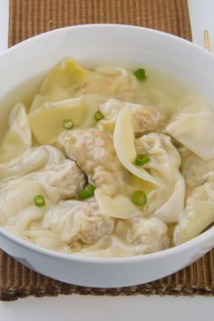 """Wonton Soup. I don't want to buy the wonton wrappers so I will make them myself. However my father also used to make soups just with little meatballs. Just make sure to mix and """"knead"""" all well so the balls will not dissolve in the water"""