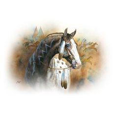 American Indian Horse War Paint Womans T by firelandsteeshirts, $13.99