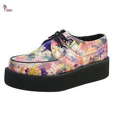 T.U.K. Shoes Women's Floral Leather Viva Creeper EU41 / UKW8 UKM7 - Chaussures tuk (*Partner-Link)
