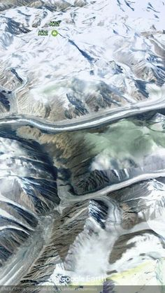 Google earth-The Himalayas,India