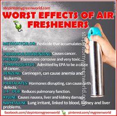 Essential oils & distilled water to freshen air!!!