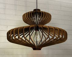 madera de lámpara colgante lasercut lámpara por AAarchiTECtureLab