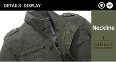 Jeep Rich Mens Cotton Washed Leisure Business Stand Collar Jacket Coat at Banggood