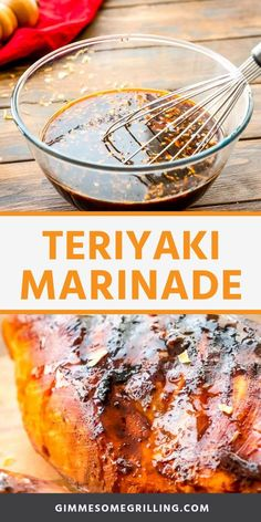 Marinade recipe is quick and easy. You can marinate chicken, pork, steak and more in this easy marinade recipe. Then throw it on the grill, cook it in a skillet or even bake it! It's perfect for a quick weeknight when you want to use up the meat you have! Chicken Teriyaki Rezept, Sauce Teriyaki, Teriyaki Steak, Hawaiian Teriyaki Marinade Recipe, Teriyaki Chicken Marinades, Recipe For Teriyaki Chicken, Grilled Chicken Marinade Easy, Pork Chop Marinade Baked, Sauces