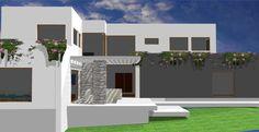 #Casas #Moderno #Exterior #Patio #Dibujos #Muebles de exterior #Fachada #Plantas