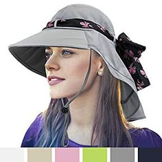 SUN CUBE Women s Foldable Summer Sun Hat With Wide Brim 51cd14c9d6f1