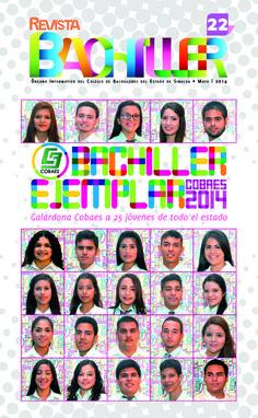 Revista Bachiller No. 22 #COBAES #Sinaloa #Revista #Educación