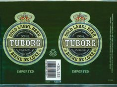 tuborg label: Beer Logos and Labels