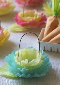 Beautiful little baskets made from coffee filters