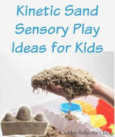 Ideas for using kinetic sand in sensory play with your kids.