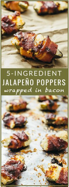 Baked jalapeño poppers wrapped in bacon - You'll love these tasty ...