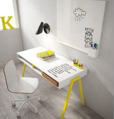 Graphic Wipe Board Children's Desk by Nidi | Nubie - Modern Baby Boutique