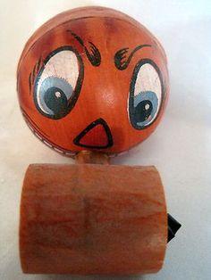 vintage halloween noisemaker german jack o lantern horn